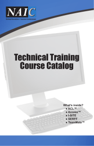 Technical Training Course Catalog
