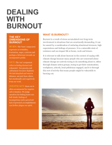 dealing with burnout - Australian Psychological Society
