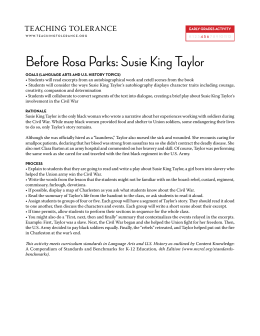 Before Rosa Parks: Susie King Taylor