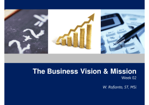 The Business Vision & Mission