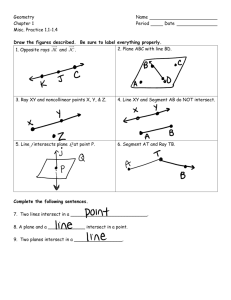 Geometry Name Chapter 1 Period Date Misc. Practice 1.1
