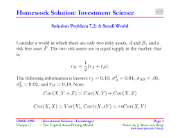 Homework Solution: Investment Science