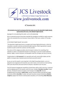 25th November 2015 JCS Livestock are proud to announce that last