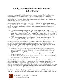 julius caesar persuasive essay your task is to convince me study guide on william shakespeare s julius caesar