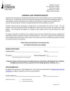 cardinal cash transfer request