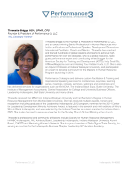 Thresette Briggs MBA, SPHR, CPS Founder & President of