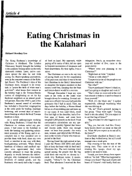christmas in the kalahari