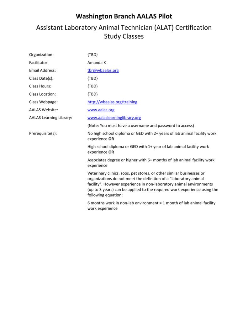 Alat Certification Study Classes
