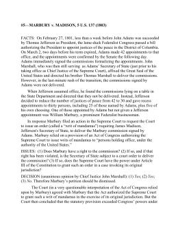 Worksheets Marbury V Madison Worksheet marbury v madison 1803 5 us 137 facts on