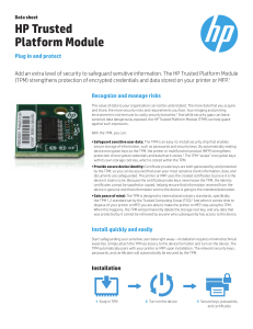 HP Trusted Platform Module - Product documentation