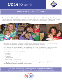 UCLA Extension - Au Pair in America