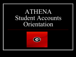 Student Accounts Orientation 2009