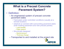 6a. Precast Concrete Repairs for WI – MBS