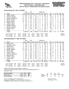 Official Basketball Box Score -- Game Totals -