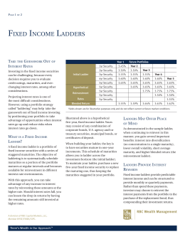 Fixed Income Ladders - RBC Wealth Management