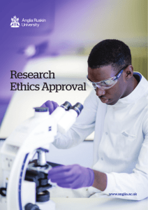 Research Ethics Approval - Anglia Ruskin University