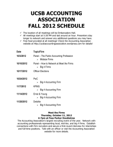 UCSB ACCOUNTING ASSOCIATION FALL 2012 SCHEDULE