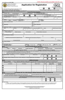 BIR Form No. 1902