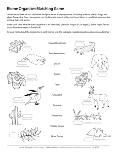 Ask A Biologist - Biome Matching Game