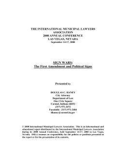 Paper - International Municipal Lawyers Association