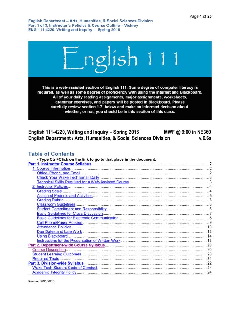 English 111 4220 Writing And Inquiry