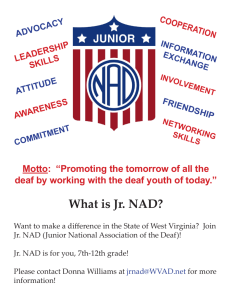 What is Jr. NAD? - West Virginia Association of the Deaf