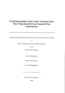 Predicting Ignition Time Under Transient Heat Flux Using Results