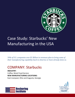 starbucks case report Partners are encouraged to report all types of issues or concerns to the program through their choice  for more information about starbucks business ethics and.