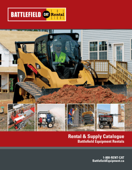 Battlefield Equipment Rental & Supply Catalogue