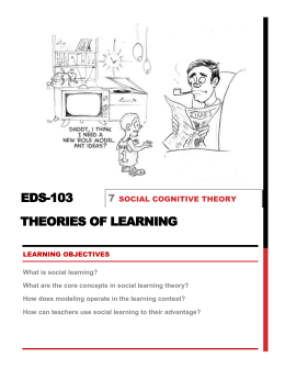Module 7. SOCIAL LEARNING THEORIES