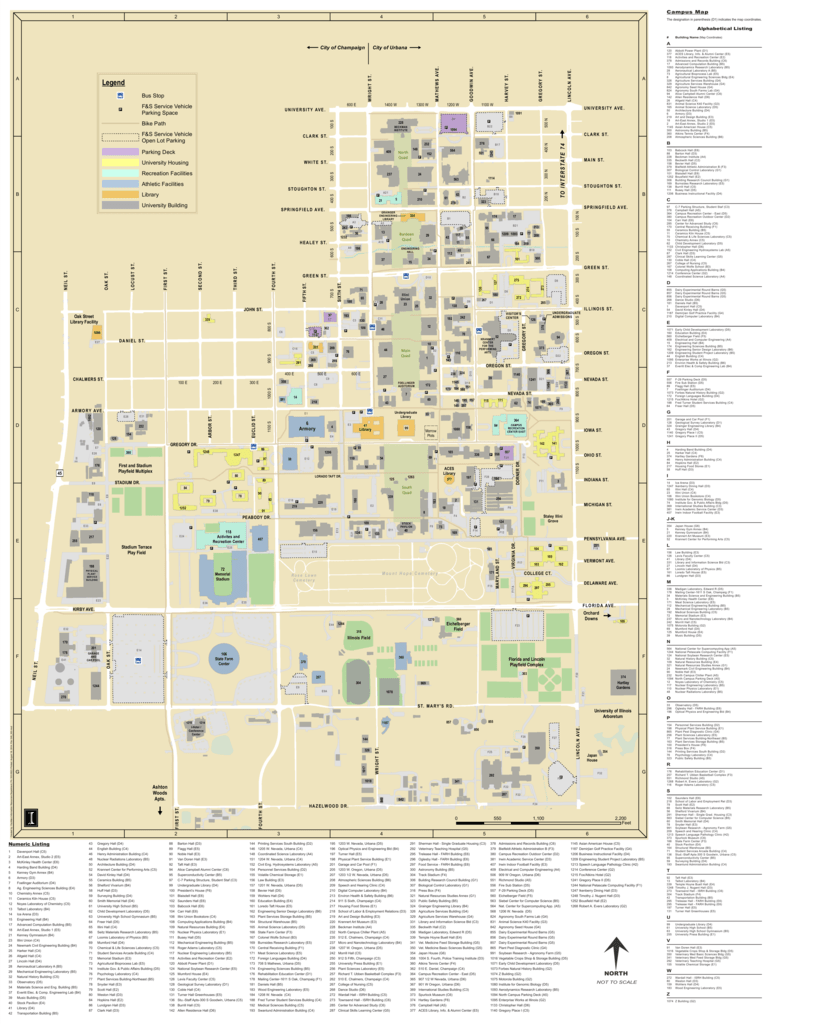 Main Campus Map University Of Illinois Facilities And Services
