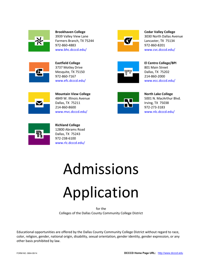 Application Dallas County Community College District