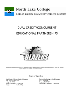 dual credit/concurrent educational partnerships