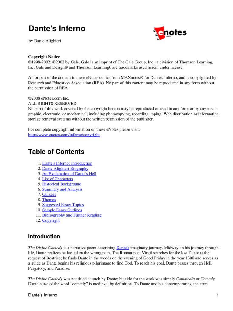 biography of dante alighieri summary