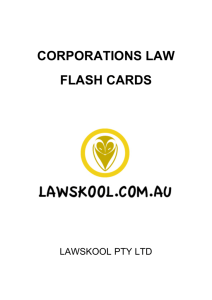 corporations law flash cards