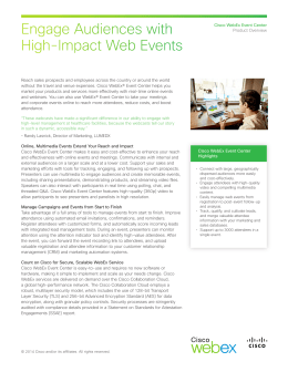 Cisco WebEx Event Center Data Sheet