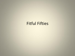 Fitful Fifties
