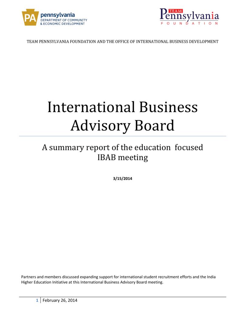 international business summary
