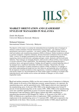 market orientation and leadership styles of managers in malaysia