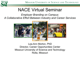 NACE Virtual Seminar - Career Opportunities & Employer Relations