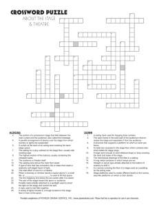 About the Stage and Theatre Crossword Puzzle