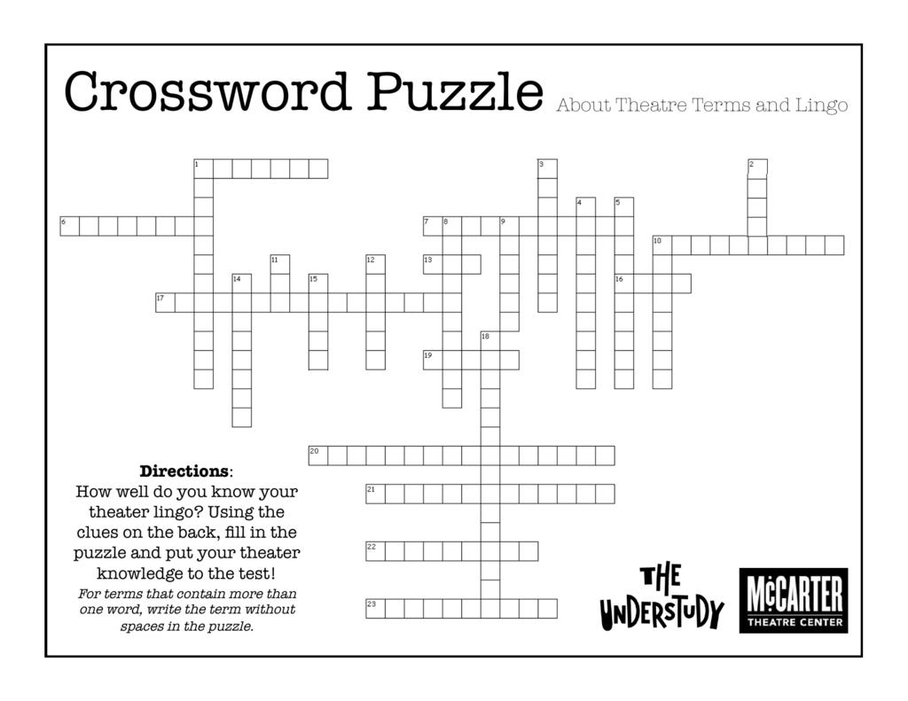 Crossword Puzzle Mccarter Theatre