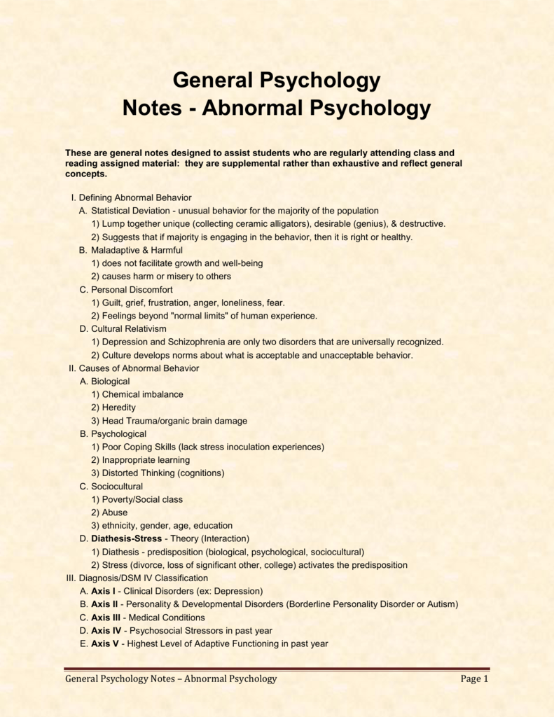 "abnormal psychology reflection essay Caña, analyn c iii-9 bs psychology reflection paper on ""one flew over cuckoo's nest"" there is a thin line between ""normal"" and ""abnormal."