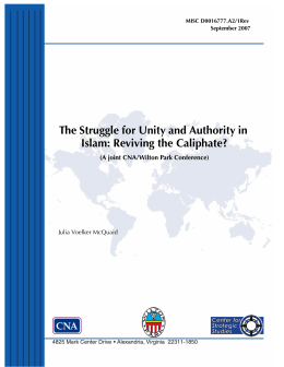 The Struggle for Unity and Authority in Islam