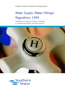 Water Supply Regulations leaflet