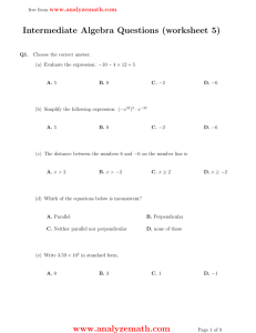 intermediate algebra questions worksheet 1. Black Bedroom Furniture Sets. Home Design Ideas