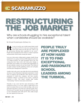 restructuring the job market - Ed