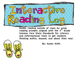 Assess reading outside of class by using reading