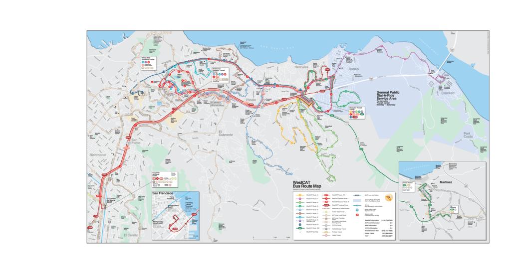 Westcat Bus Route Map