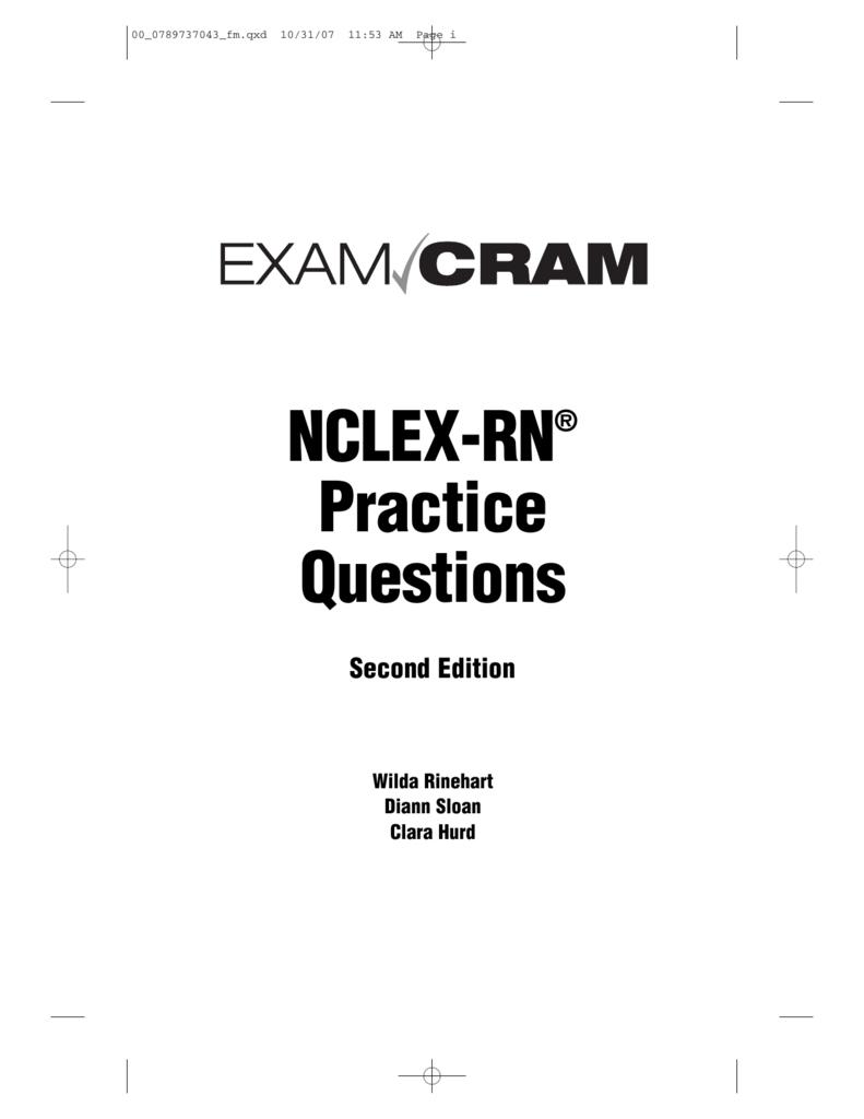 Nclex rn practice questions exam cram xflitez Gallery